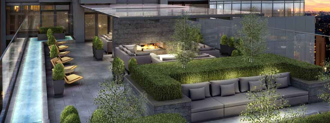 Minto Yorkville Park offers sculpted terraces and lounges